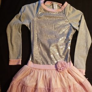 Size 12 Emily West Girl Party Dress Sequins Tulle